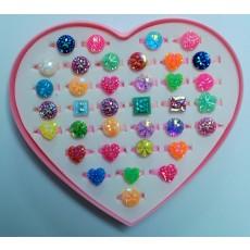 신상품 플라스틱링 반지(4)