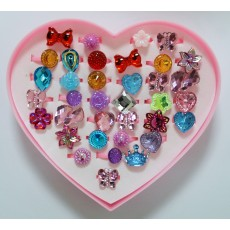 신상품 플라스틱링 반지(5)